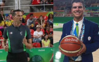 Arbitres de basketball en fauteuil roulant